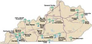 Kentucky State Parks Map by Kentucky State Parks Golf Trail