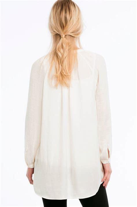 Blouse Af ellos collection bluse af mat satin hvid dame ellos dk