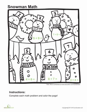 educational coloring pages for first grade 10 winter math worksheets education com