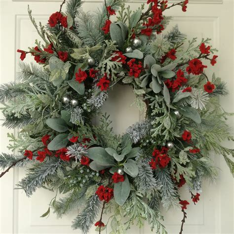 christmas wreath winter wreath holiday wreath elegant holiday