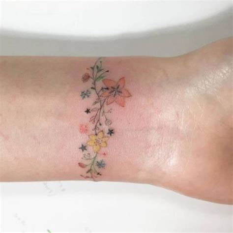 flower wrist bracelet tattoos best 25 bracelet tattoos ideas on wrist