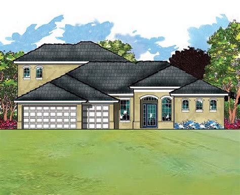 southern custom homes modern mediterranean with four bedrooms and a large bonus room