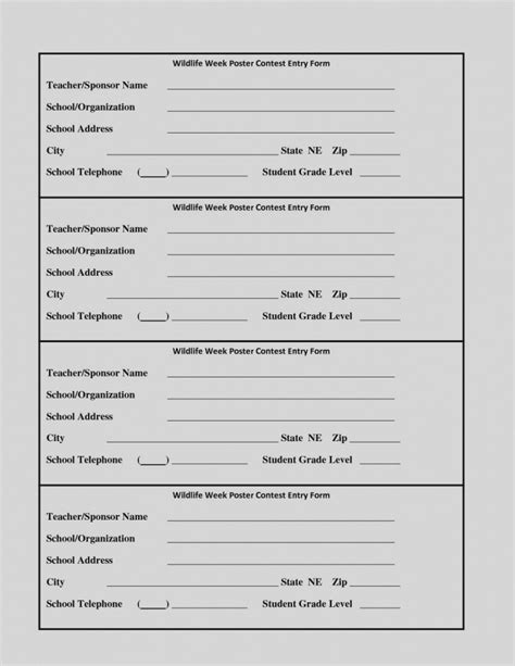 contest entry form template charlotte clergy coalition