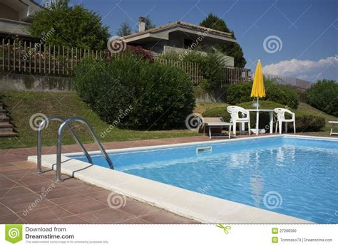 a beautiful home with swimming pool stock photo image