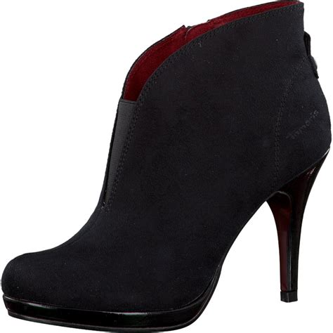 boot and shoe tamaris black suede shoe boot footwear from voila uk
