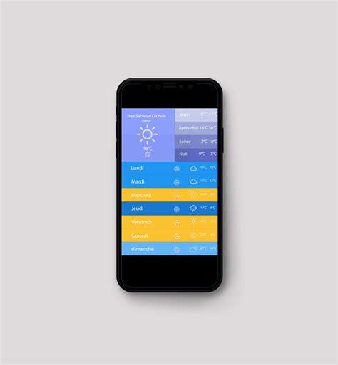 mobile meteo it portfolio ux designer juliette guilbaud designj