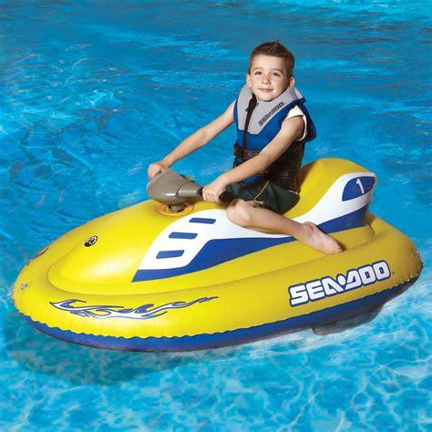 sea doo inflatable boats the children s inflatable sea doo hammacher schlemmer