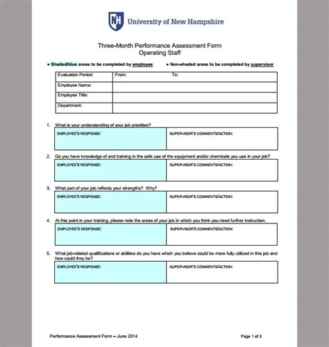 performance survey template assessment template for performance template of