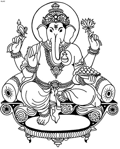 printable ganesh images ganesh drawing outline clipart best