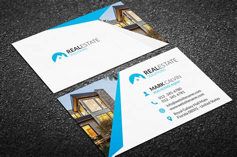 real estate business card template real estate business card 35 business card templates on creative market