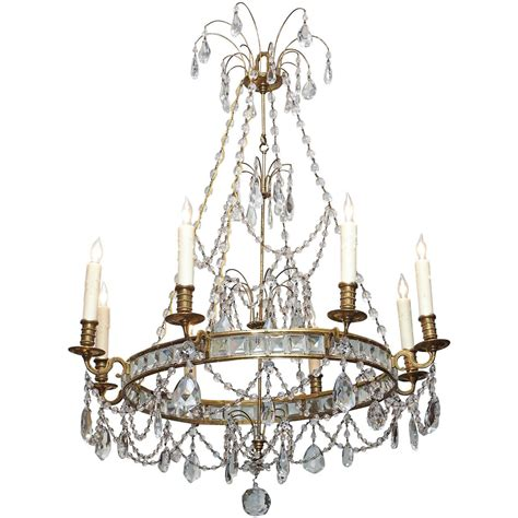 Bronze Chandeliers With Crystals Swedish Bronze And Chandelier At 1stdibs