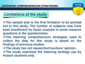 Essay Writing And Comprehension by Listening Comprehension Research Paper