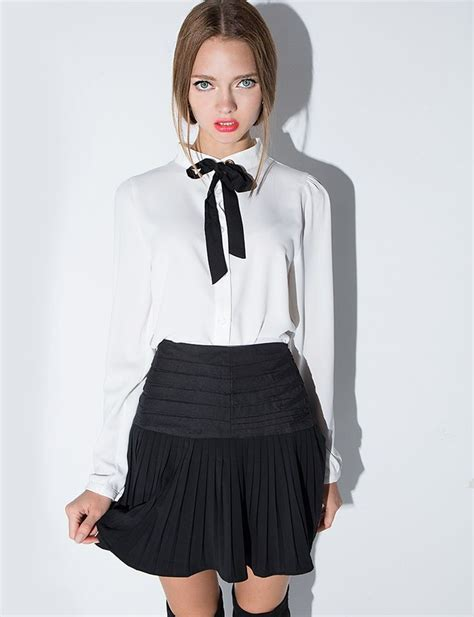 Ribbon Blouse colette ribbon neck tie blouse fashion inspiration