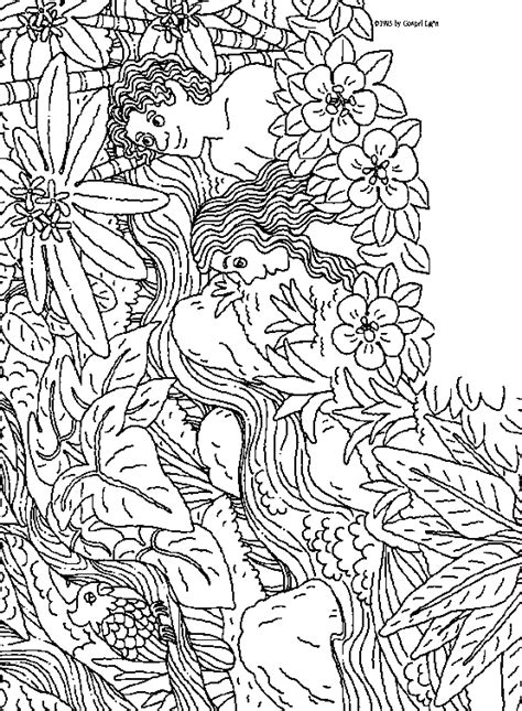 adam and eve coloring pages coloringpagesabc com