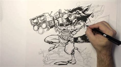 how to draw rocket raccoon speed youtube
