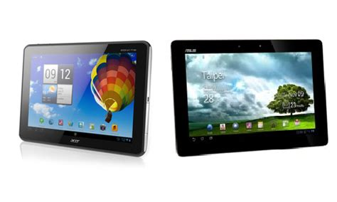 Tablet Asus Acer acer iconia a510 asus transformer tf300 pad tablets comparison review price