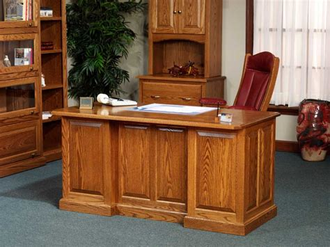 Custom Desks For Home Office Solid Oak Office Desk Custom Home Office Desk