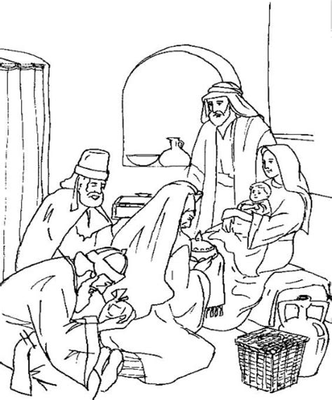 young jesus coloring pages 16 best bible jesus the wise men s gifts images on