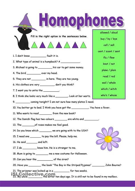 homophones 1 phonitic worksheets english grammar esl