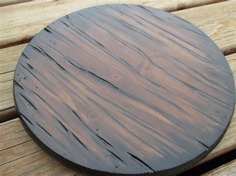 Wooden Lazy Susan Handmade - 12 carved wood lazy susan handmade rustic by bandannamarie