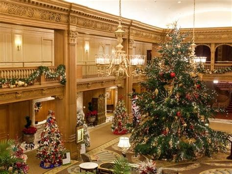 christmas decor seattle free festival of trees at seattle fairmont olympic hotel greater seattle on the cheap