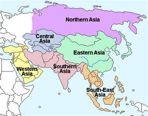 regional map of asia espritfollet this is a map of asia