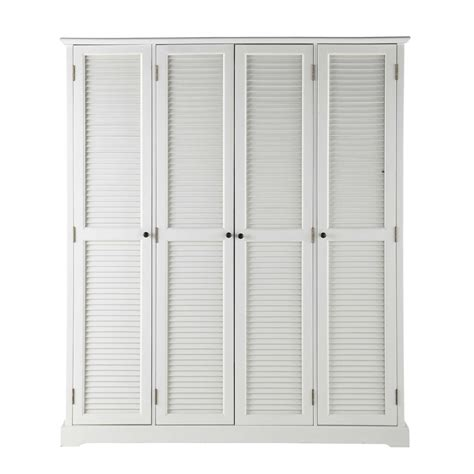 guardaroba bianco guardaroba bianco in legno l 170 cm barbade maisons du monde