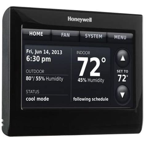 Honeywell 7 Day Wi Fi Smart Programmable Thermostat with Voice Control RTH9590WF   The Home Depot