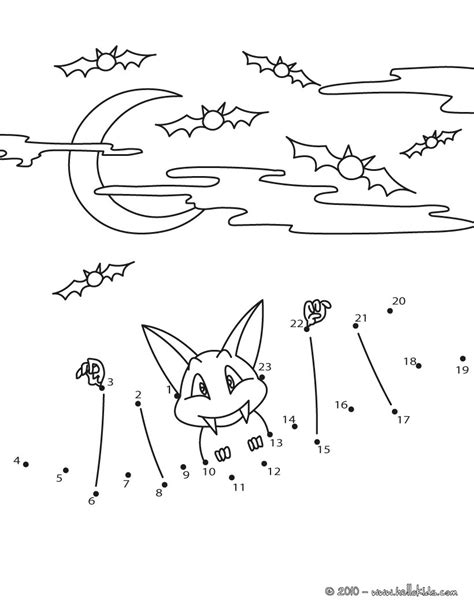 halloween coloring pages dot to dot halloween bat dot to dot game coloring pages hellokids com