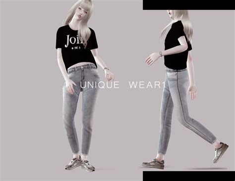 photo collection sims 3 blog my sims 3 blog unique wear top jeans set for females