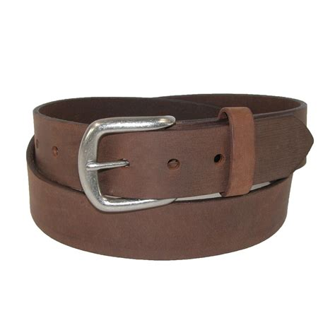 mens chieftain leather removable buckle bridle belt by