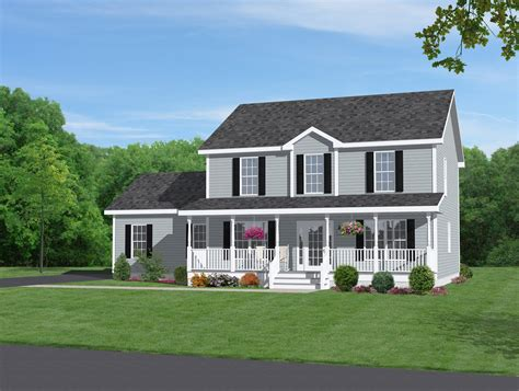 Two Story House Plans With Front Porch by Two Story Home With Beautiful Front Porch Home