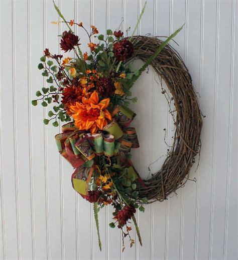home decor wreaths fall grapevine wreath home decor floral