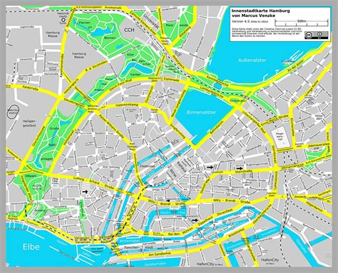 Printable Map Hamburg | large hamburg maps for free download and print high
