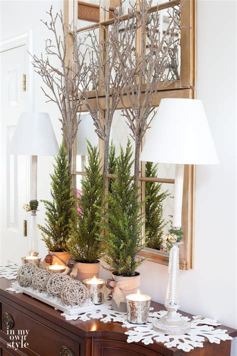 how to decorate a foyer in a home christmas decorating in my foyer in my own style