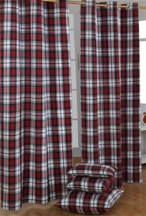 Macduff Tartan Check Ready Made Curtain Modern