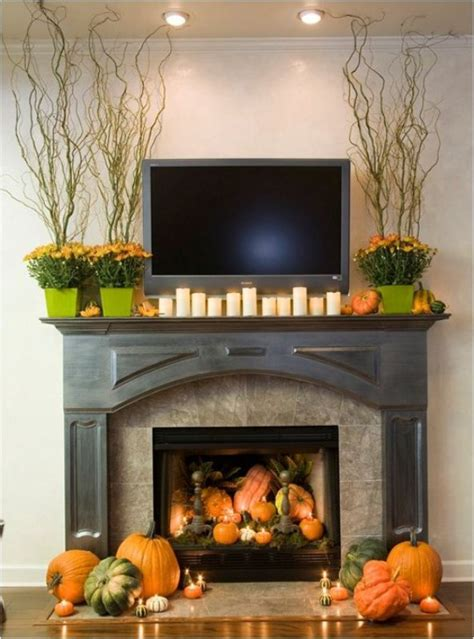 fall mantel decor 40 delightful diy fall mantel decoration ideas