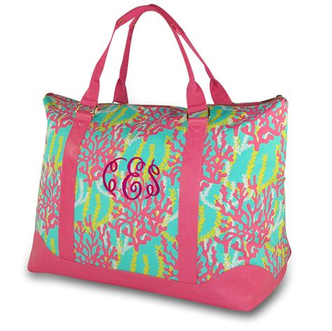 monogram weekender bag coral reef