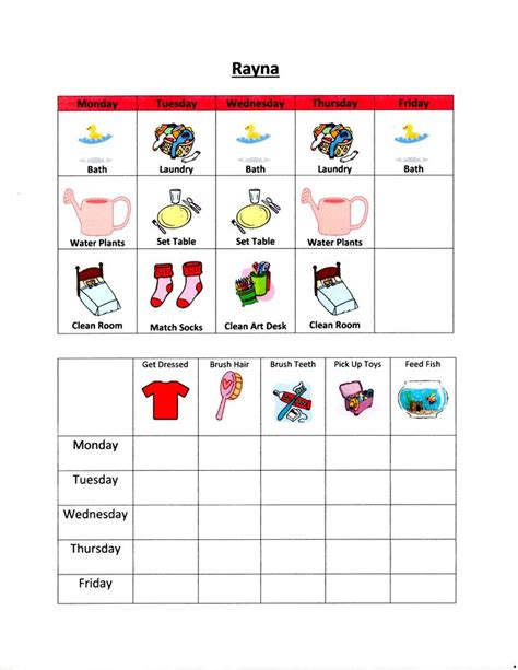 chore charts for 6 year olds yahoo image search results 3 year olds chore charts and 3 years on pinterest