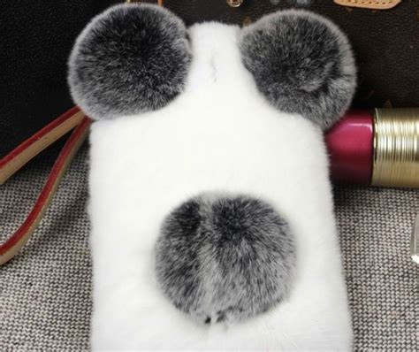 Casing Hp Redmi 4 Pro 3d Rabbit Fur Plush Flurry Soft ξluxury panda rabbit fur ᗖ for for iphone4 5 5c 6