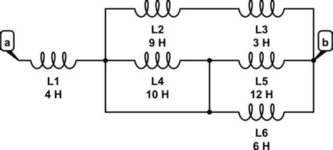 formula of equivalent inductance inductor finding the equivalent inductance across the terminals a and b with a wire included