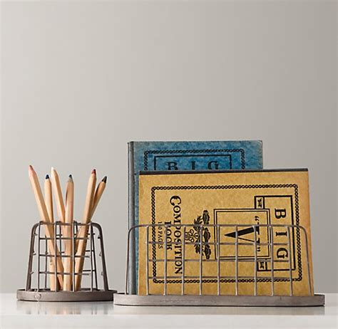 Industrial Desk Accessories Pencil Cup Paper Holder Set Industrial Desk Accessories