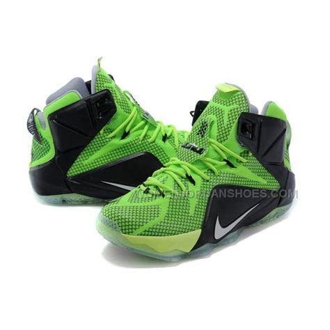 basketball sneakers on sale cheap nike lebron 12 green black basketball shoes on sale