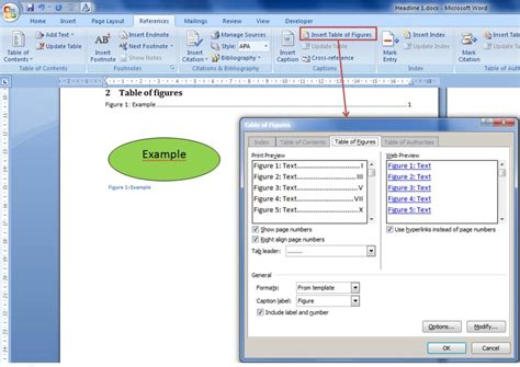 5 creating an automatic table of figures blogyourearth