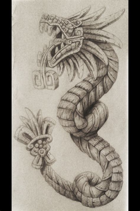 aztec quetzalcoatl tattoo design pin by og on got that special love to share this with
