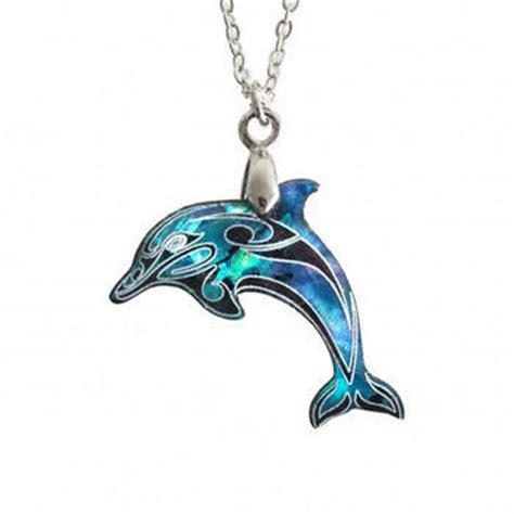 new zealand paua shell dolphin pendant kiwitreasure