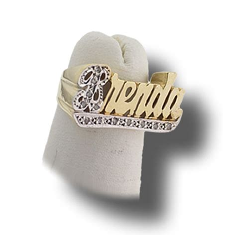 personalized name ring with accent