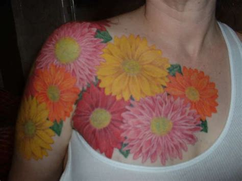 floral chest tattoo flower chest tattoos for arm chest flowers