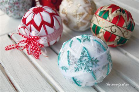 make your own quilted christmas ornaments folded fabric