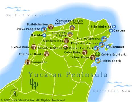 yucatan peninsula map cruisedeals